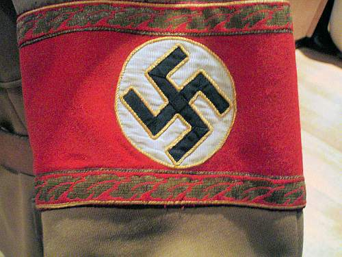 Nsdap political high leader armband....original or fake?