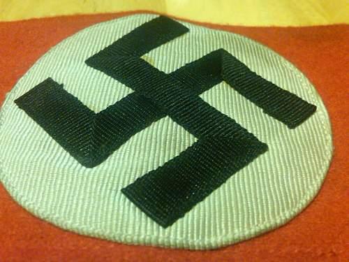 My first ever swastika armband!