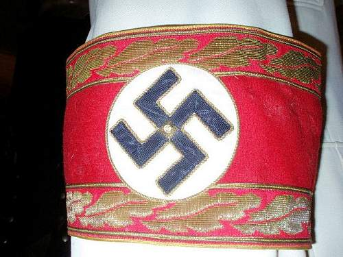 NSDAP Leaders Armband - Up for Review