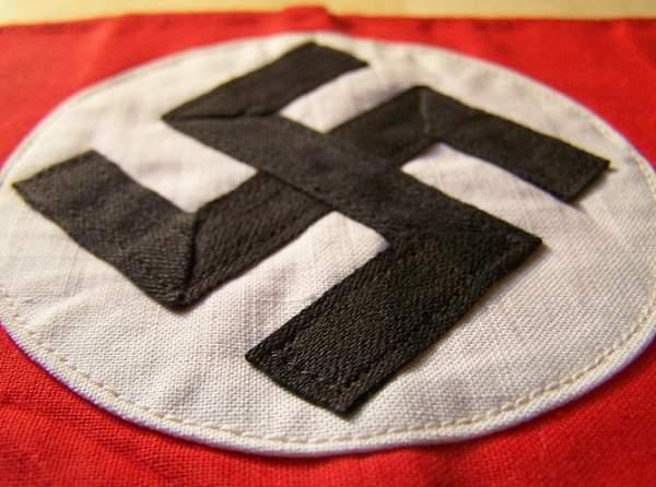 Click image for larger version.  Name:NSDAP armband 1b.jpg Views:326 Size:114.2 KB ID:22851