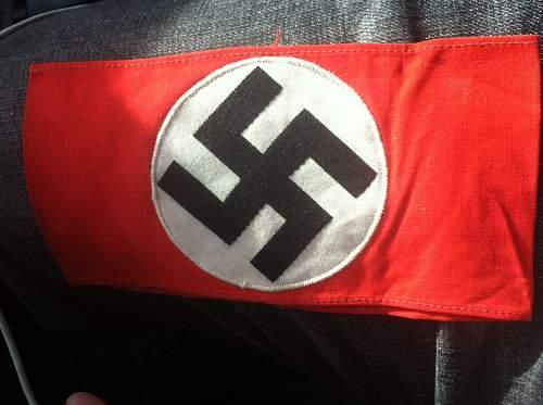 NSDAP armband for evaluation.