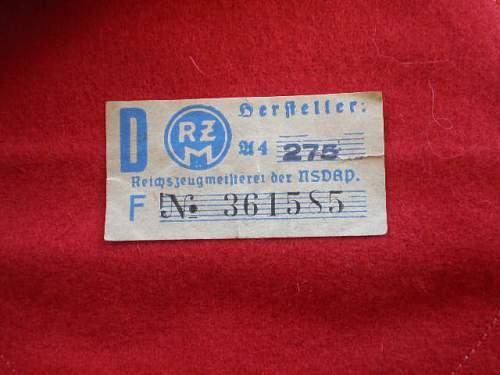NSDAP Armband with RZM tag: Fake ?????