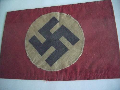 NSDAP printed arm band?