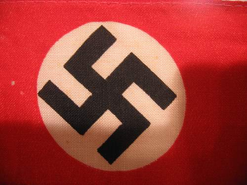 NSDAP band/ribbon? How Fake is this? Real or a laugher?