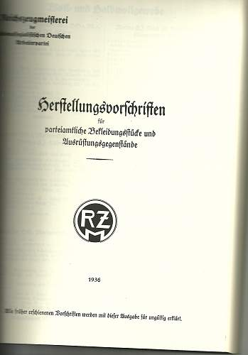 Correct RZM tag for NSDAP armband?
