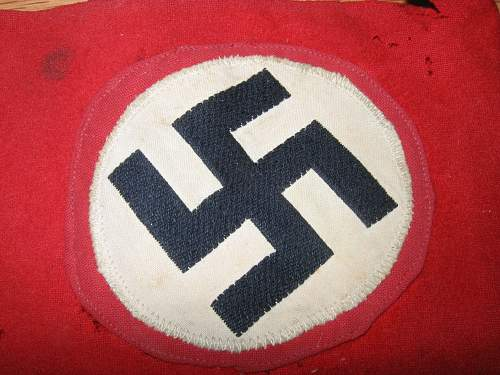 Garage sale NSDAP armband - sloppy construction
