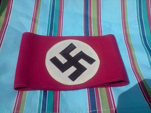 nsdap armband with rzm paper tag!