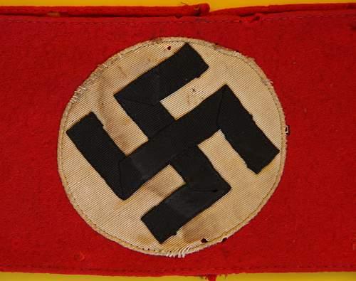 NSDAP armband. Opinions please