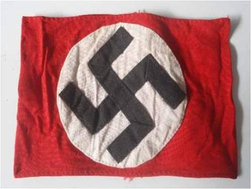 NSDAP armband. Opinions please