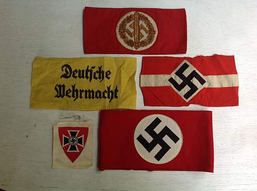Recently acquired armbands