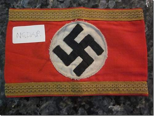 Click image for larger version.  Name:NSDAP -Officials- armband.jpg Views:13 Size:93.3 KB ID:537554
