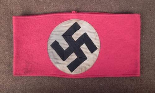 NAZI/NSDAP EARLY PARTY ARMBAND  is it fake?????
