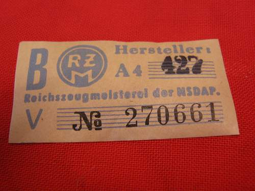 nsdap armband with label