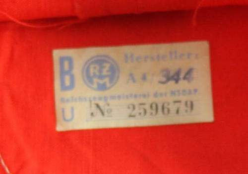 Early NSDAP Arm Band With RZM Tag, first time buying from Collectortocollector Militaria. Is this armband original?