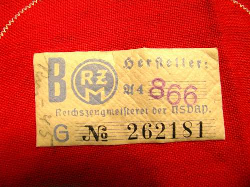 First (and probably only) NSDAP Kamfbinde- thoughts