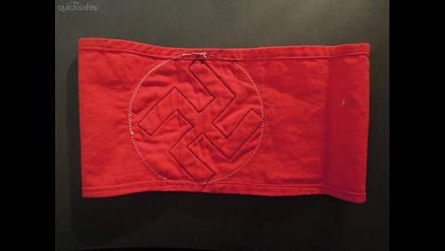 NSDAP arnband and Pre war nsdap armband