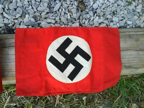 Nazi ARMBANDS and Deaths Head Skull Patch