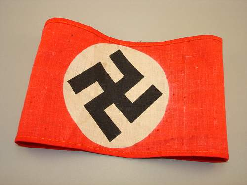 Click image for larger version.  Name:NSDAP Armband - Printed Inside out.jpg Views:36 Size:322.3 KB ID:683729