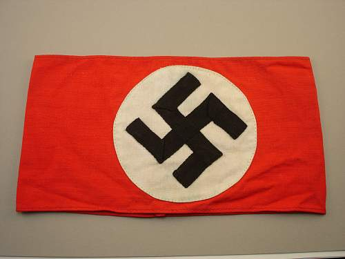 Click image for larger version.  Name:NSDAP Kampfbinde 3 Pc Front.jpg Views:80 Size:320.5 KB ID:690470