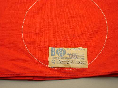 Click image for larger version.  Name:NSDAP Kampfbinde 3 Pc RZM Tag Close Up.jpg Views:126 Size:327.6 KB ID:690473