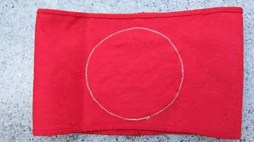 NSDAP 3-piece tagged wool Kampfbinde