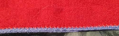 armband with blue trim