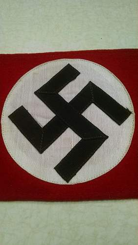 NSDAP wool armband Genuine or Reproduction