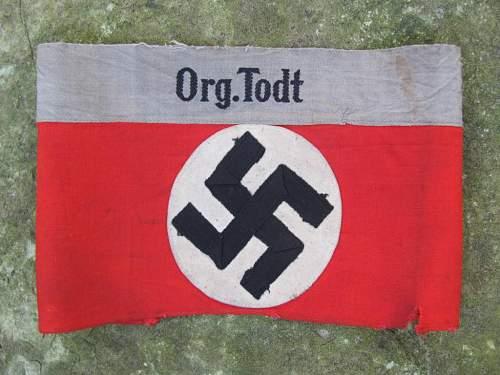 Org Todt Armband - Worn Piece