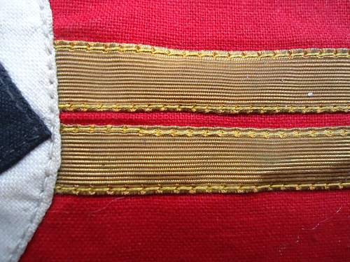 Peculiar Unidentified NSDAP Kampfbinde Double gold bands