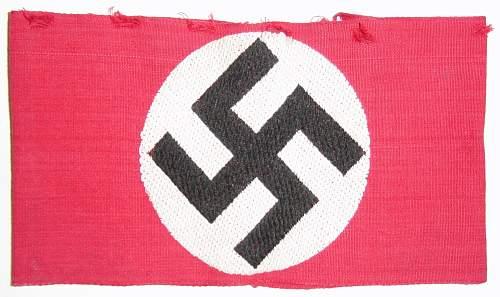 Click image for larger version.  Name:NSDAP Armband..jpg Views:1530 Size:210.3 KB ID:80561