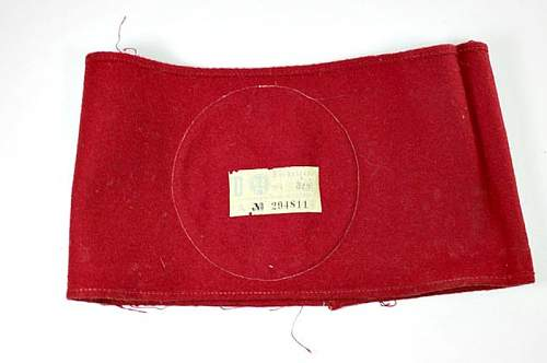 Opinions on NSDAP wool armband