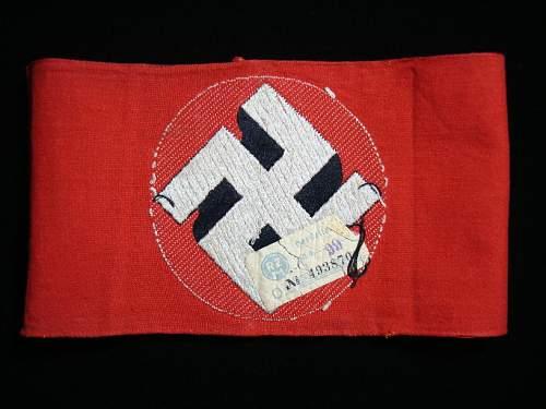NSDAP Armband - Opinions Please