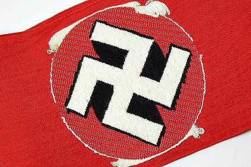 NSDAP/SA Bevo Armband advice