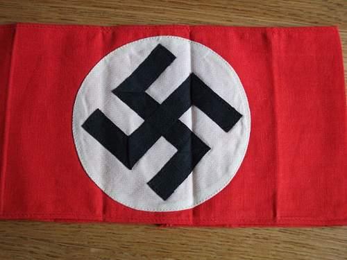 Multi piece Cotton NSDAP/SA Armband Opinion