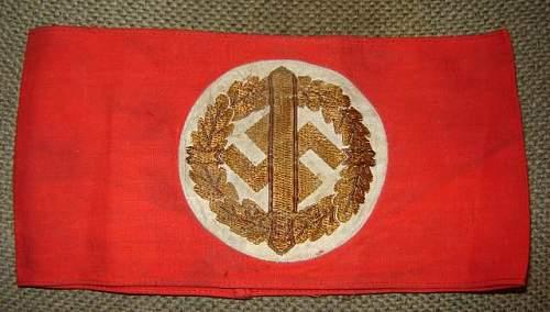 SA sports, Waffen SS and Deutsche Wehrmacht armbands