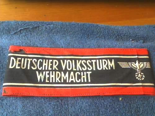 Deutscher Volkssturm Wehrmacht armband. -  Real or Fake