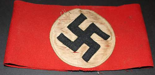 NSDAP armband: I think this is a fake?