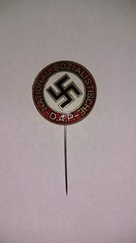 National Sozialistische D.A.P pin.