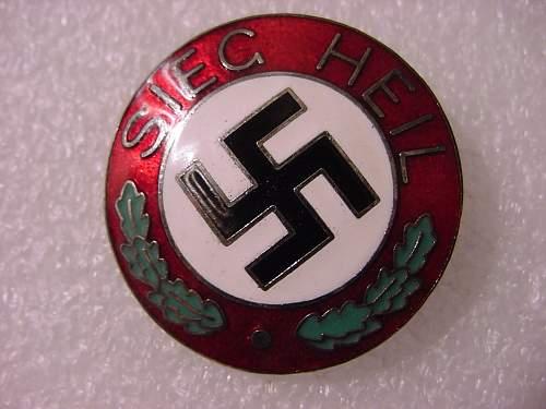 1933 German Nazi NSDAP SEIG HEIL Victory Pin