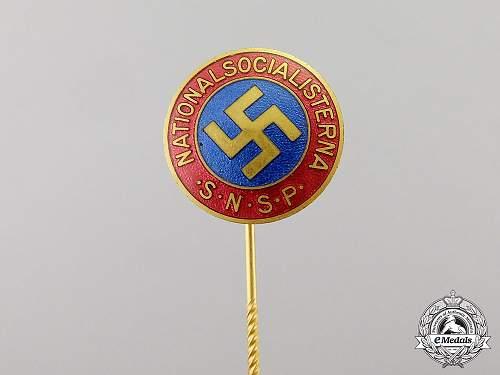 Fake Swedish NSAP Stcikpin