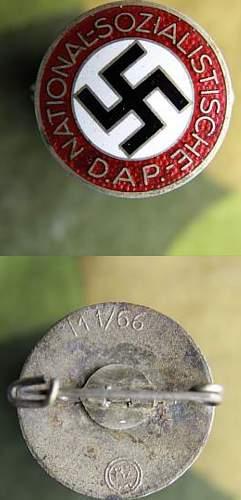 Parteiabzeichen RZM M1/66