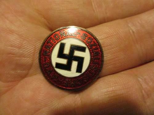 Fritz Zimmerman RZM 72 NSDAP badge help please