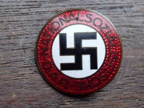 My latest purchase, NSDAP badge