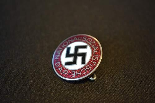 My first NSDAP badge. M1/130