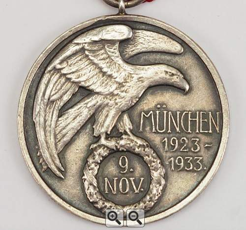 German Blood Order Medal 707, opinions