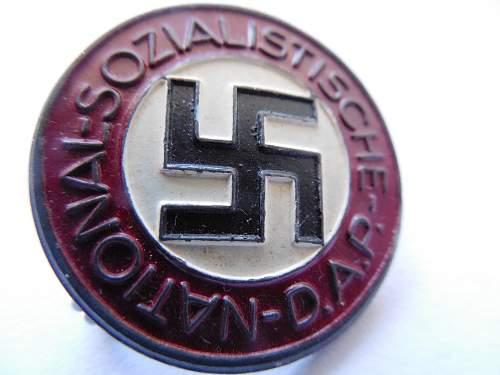 My First NSDAP Party Pin (Parteiabzeichen)