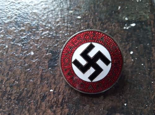 M1/34 NSDAP Parteiabzeichen - original or not?
