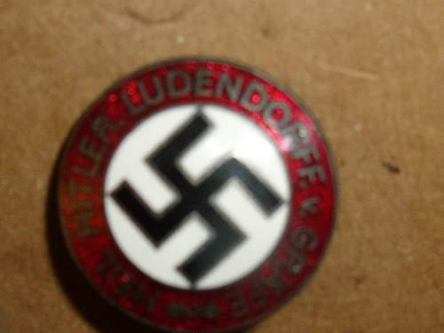 party pin,heil hitler-ludendorff von grafe