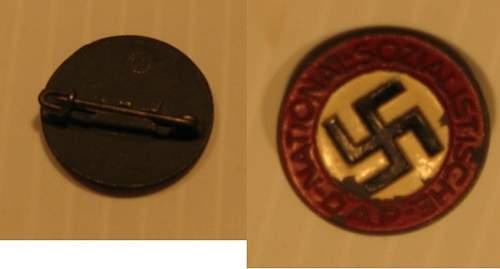 NSDAP membership badge: original or fake?