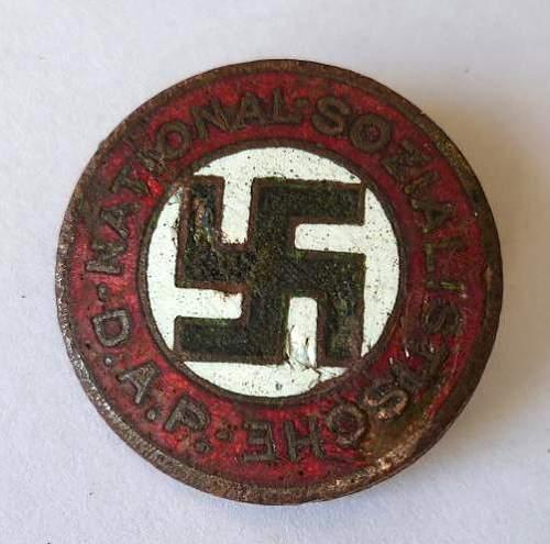 NSDAP badge, no RZM or maker